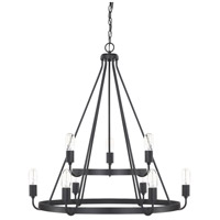 HomePlace 9 Light 31 inch Matte Black Chandelier Ceiling Light