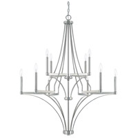 Wright 10 Light 35 inch Polished Nickel Chandelier Ceiling Light