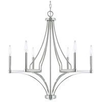 Wright 6 Light 29 inch Polished Nickel Chandelier Ceiling Light