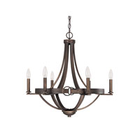 Capital Lighting Chastain 6 Light Chandelier in Tobacco 4206TB-000