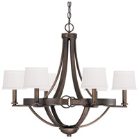 Chastain 6 Light 29 inch Tobacco Chandelier Ceiling Light