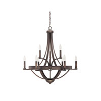 Capital Lighting Chastain 9 Light Chandelier in Tobacco 4209TB-000