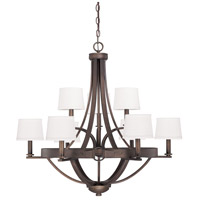 Chastain 9 Light 33 inch Tobacco Chandelier Ceiling Light