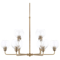 Capital Lighting 421101AD-426 Mid Century 10 Light 36 inch Aged Brass Chandelier Ceiling Light