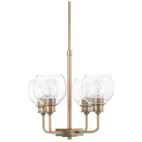 Capital Lighting 421141AD-426 Mid Century 4 Light 17 inch Aged Brass Chandelier Ceiling Light