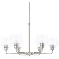 Capital Lighting 421161PN-426 Mid Century 6 Light 30 inch Polished Nickel Chandelier Ceiling Light