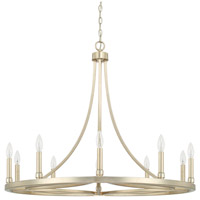 Mercer 10 Light 36 inch Winter Gold Chandelier Ceiling Light