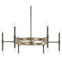 Capital Lighting 421402IG Gavin 12 Light 37 inch Iron and Gold Chandelier Ceiling Light