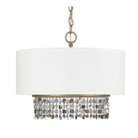 Harper 5 Light 18 inch Brushed Gold Dual Mount Pendant Ceiling Light