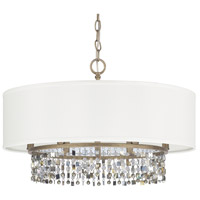 Harper 6 Light 24 inch Brushed Gold Dual Mount Pendant Ceiling Light