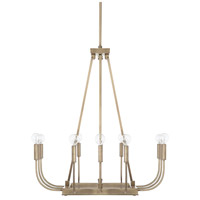 Zander 12 Light 27 inch Aged Brass Chandelier Ceiling Light