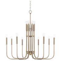 Zander 16 Light 36 inch Aged Brass Chandelier Ceiling Light