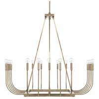 Zander 20 Light 43 inch Aged Brass Chandelier Ceiling Light