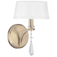 Capital Lighting Margo 1 Light Sconce in Winter Gold 4221WG-549-CR