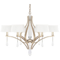 Capital Lighting Margo 6 Light Chandelier in Winter Gold 4226WG-549-CR