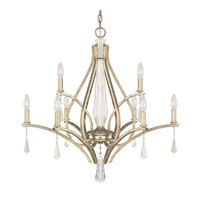 Capital Lighting Margo 9 Light Chandelier in Winter Gold 4229WG-000-CR