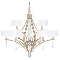 Capital Lighting Margo 9 Light Chandelier in Winter Gold 4229WG-549-CR