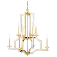 Capital Lighting 423081CG Abella 8 Light 33 inch Capital Gold Chandelier Ceiling Light