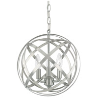 Axis 3 Light 13 inch Brushed Nickel Pendant Ceiling Light