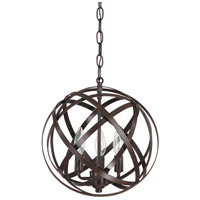 Capital Lighting 4233RS Axis 3 Light 13 inch Russet Pendant Ceiling Light in (None)
