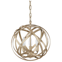 Capital Lighting Axis 3 Light Pendant in Winter Gold 4233WG