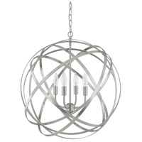 Axis 4 Light 23 inch Brushed Nickel Pendant Ceiling Light