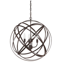 Axis 4 Light 23 inch Russet Pendant Ceiling Light