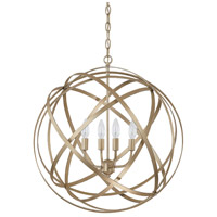 Capital Lighting Axis 4 Light Pendant in Winter Gold 4234WG