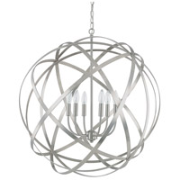 Axis 6 Light 30 inch Brushed Nickel Pendant Ceiling Light