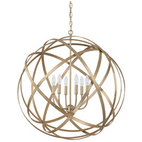 Axis 6 Light 30 inch Winter Gold Pendant Ceiling Light in (None)