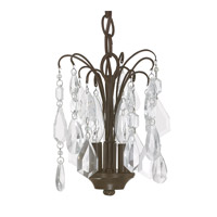 Capital Lighting Axis 3 Light Mini Chandelier in Russet with Clear Crystals 4237RS