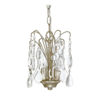 Capital Lighting Axis 3 Light Mini Chandelier in Winter Gold with Clear Crystals 4237WG