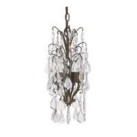 Capital Lighting Axis 4 Light Mini Chandelier in Russet with Clear Crystals 4238RS