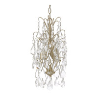 Capital Lighting Axis 4 Light Mini Chandelier in Winter Gold with Clear Crystals 4238WG