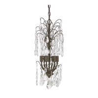 Capital Lighting Axis 6 Light Mini Chandelier in Russet with Clear Crystals 4239RS