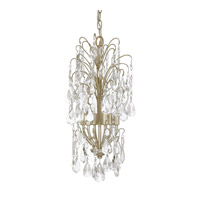 Capital Lighting Axis 6 Light Mini Chandelier in Winter Gold with Clear Crystals 4239WG