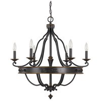 Capital Lighting Wyatt 6 Light Chandelier in Surrey 4255SY-000