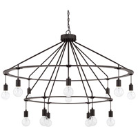 Signature 14 Light 48 inch Black Iron Chandelier Ceiling Light