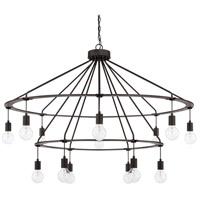 Capital Lighting 425602BI Signature 14 Light 48 inch Black Iron Chandelier Ceiling Light
