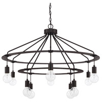 Signature 10 Light 37 inch Black Iron Chandelier Ceiling Light