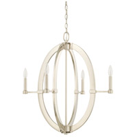 Capital Lighting 425841PN Signature 4 Light 27 inch Polished Nickel Chandelier Ceiling Light