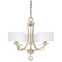 Capital Lighting Hutton 3 Light Chandelier in Winter Gold 4263WG-552