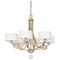 Hutton 6 Light 29 inch Winter Gold Chandelier Ceiling Light