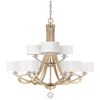Capital Lighting Hutton 9 Light Chandelier in Winter Gold 4269WG-552