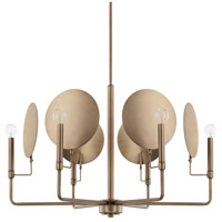 Capital Lighting 427761AD Wells 6 Light 30 inch Aged Brass Chandelier Ceiling Light