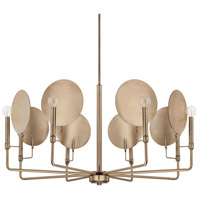 Capital Lighting 427781AD Wells 8 Light 38 inch Aged Brass Chandelier Ceiling Light
