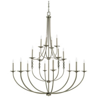 Wallace 16 Light 58 inch Antique Nickel Chandelier Ceiling Light