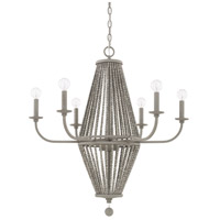 Capital Lighting 428061PG Kima 6 Light 29 inch Paris Grey Chandelier Ceiling Light