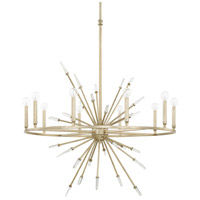 Adira 10 Light 36 inch Winter Gold Chandelier Ceiling Light