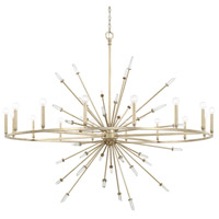 Adira 16 Light 59 inch Winter Gold Chandelier Ceiling Light